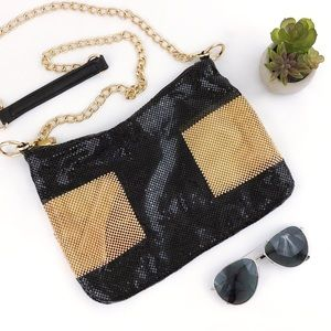 WHITING & DAVIS Bubble Color Block Crossbody Bag